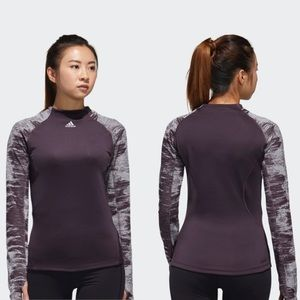 adidas Alphaskin Cold Weather Long Sleeve Purple M